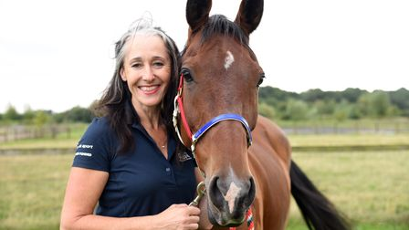 Nicki Thorne alongside her horse mousy are competing in the Edurance GB European Championships. Pic