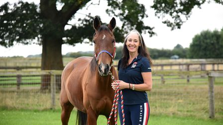 Nicki Thorne alongside her horse Mousey are competing in the Endurance GB European Championships. Pic