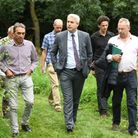 MP Steve Barclay spoke to members of the Woodland Trust during his visit to Gault Wood in March.