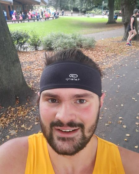 Rory Burr after finally completing Preston Parkrun