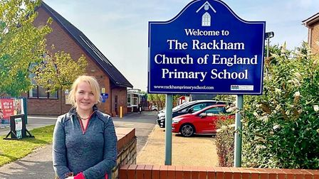 Bridget Harrison, headteacher of Rackham Primary School in Witchford, will this month take on her fundraising skydive.