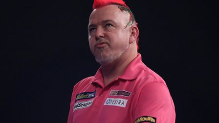 Peter Wright was left with plenty to ponder as he lost this evening. Picture: STEVE PASTON