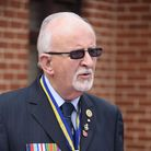 Dennis O'Callaghan speaks at his father's memorial service in Dereham, William O'Callaghan, who surv