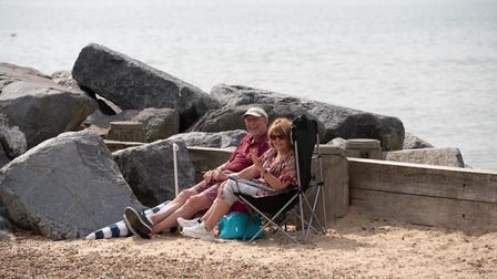 People flocked to the beach in Felixstowe to enjoy the September sunshine. Picture: Sarah Lucy Brow