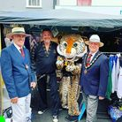 Great Dunmow mayor Patrick Lavelle (far right), deputy mayor Alex Armstrong, and Dunmow Tae Kwon-Do, Essex