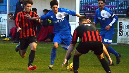 The players of Kirkley, blue, are in Boxing Day action at 11am. Picture: MICK HOWES