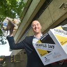David Powles picking the winners for the Norfolk Day prize draw. Photo: Antony Kelly