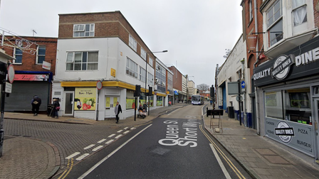 The assault took place in Queen Street, Colchester