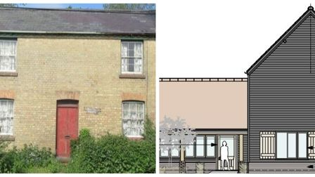 Springfield House, Wilburton, to be replaced by design on the right