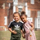 Jeremiah and Carmela having an ice lolly in front of Christchurch Mansion. Picture: Sarah Lucy Brown