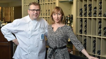 Pascal and Karine Canevet, owners of Maison Bleue in Bury St Edmunds. Karine has received the Michel