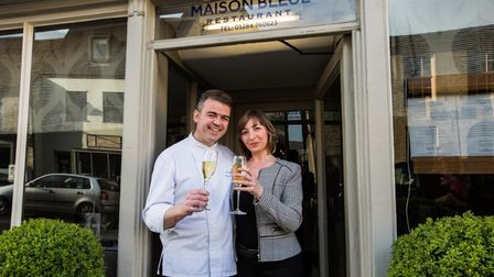 Chef patron Pascal and Karine Canevet of Maison Bleue Picture: LUCY TAYLOR