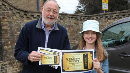 Lucy Parker with Cllr David Mason mayor of Whittlesey