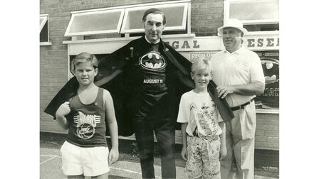 Popular Pc Speakman who, because he wore a cape ,was known as batman