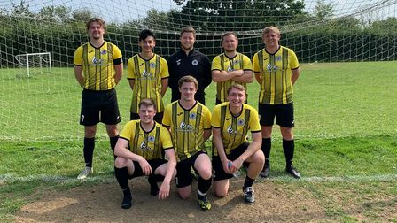 The eight players who scored the 17 goals forHigh Easteragainst Valley Green.