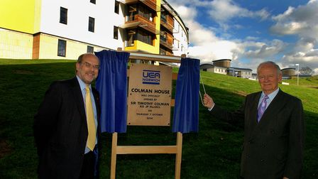 The new Colman House student residences at the University of East Anglia, opened by Sir Timothy Colm