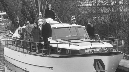 The Queen and Prince Philip, accompanied by Mr Timothy Colman, President of the Norfolk Naturalists