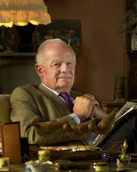 Relaxing at his home at Bixley Manor near Norwich, Sir Timothy Colman who is retiring from the post