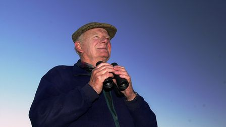 Sir Timothy Colman enjoys one of his passions, bird watching around the Norfolk countryside.ph