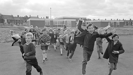 First day for children at Whitefriars school in 1970.