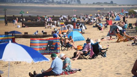 A busy beach in the hot weather at Wells-next-the-Sea. Picture: DENISE BRADLEY