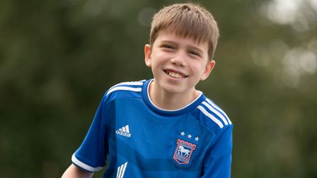 Aiden Thomas, who has cerebral palsy, is part of a frame football team in Basildon and the sessions