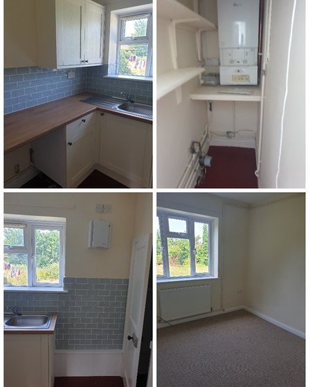 A before and after shot of the work done by Homes for Wells.