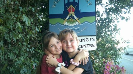 Lacie (L) and Lilly-Mai Earwaker (R) completed a sponsored walk for the RSPCA on Sunday September 5.