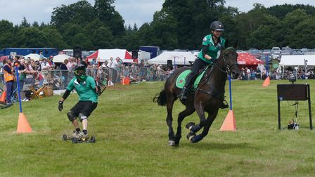 Horseboarding always wows the crowds.