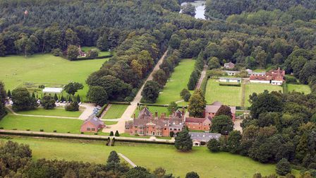 Cawston Park Hospital from above.