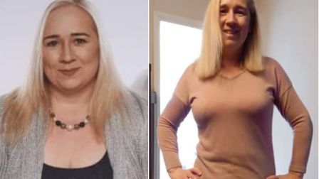 Whittlesey slimmer Tracey McIntosh before and afterlosing weight.