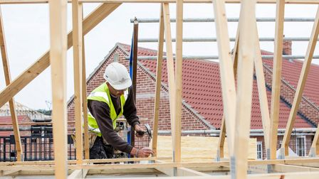 House building. Construction on a Hopkins Homes site. Picture: ANDREW HENDRY
