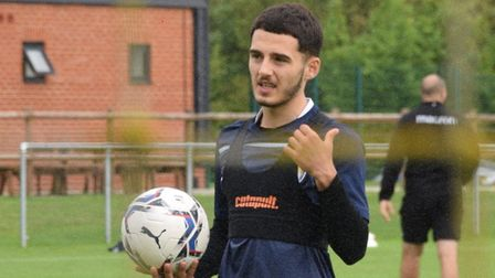 Armando Dobra, pictured during training with Colchester United