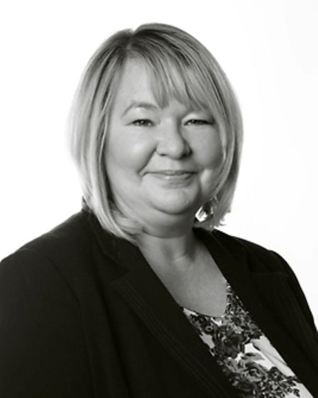 Black and white photo of Amanda Maruca, partner in family law at Spire Solicitors in Norwich