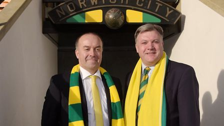 David McNally is looking forward to working with Ed Balls on Norwich City's board. Photo: Steve Adam