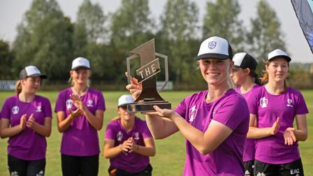 Norwich schoolgirl Maddy Reynolds celebrates her success at The 1 event in Nottingham