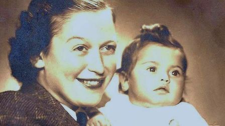 Eva Clarke as baby in 1945, pictured with her mother Anka. Eva was born in a concentration during the Second World War