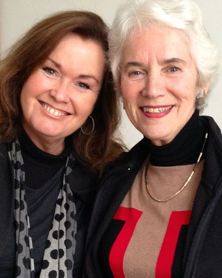 Suffolk author Wendy Holdenwith Eva Clarke. The two regular do talks on the book, and share Eva's inspiring story