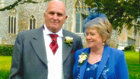 Andrew and Jean Crawford who were killed in a crash on the A1075 at Great Hockham in August 2019.