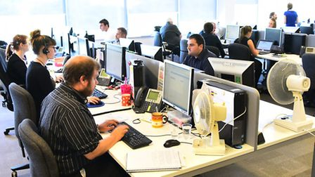 Aviva's claims department at Willow House, Broadland Business Park, Norwich. Picture by SIMON FINLAY