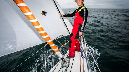 British yachtswoman Pip Hare hopes to beat the world record set by Ellen MacArthur in the Vendee Glo