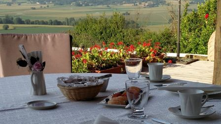 Enjoy breakfast with a countryside view