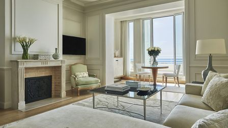 A Palace Sea-View suite at Grand-Hôtel du Cap-Ferrat with windows looking out onto the Mediterranean