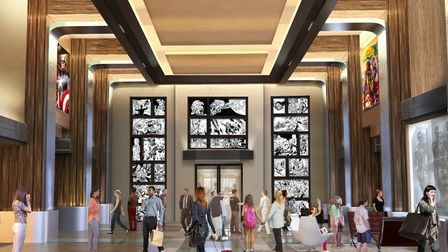 How the lobby will look once work is complete ©Disneyland Paris