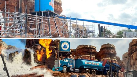 Work continues on the new Cars Route 66 Road Trip attraction ©Disneyland Paris