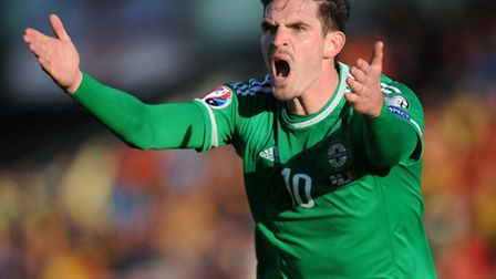 Norwich City's Northern Ireland international Kyle Lafferty is touted with a move to Leeds United. P