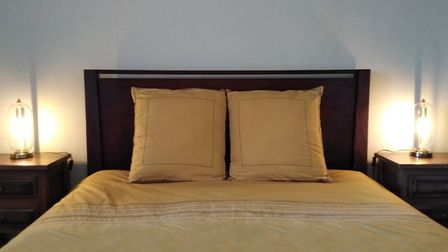 The Pécharment room has a queen-size bed