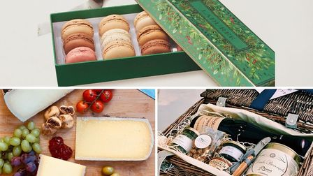 Clockwise from top: Laduree, Tariette, The French Comte
