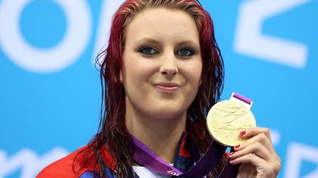 Great Britain's Jessica-Jane Applegate on the podium with her gold medal after the Women's 200m free