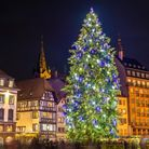The 30-metre-high Christmas tree stands in Place Kleber © Leonid Andronov Getty Images